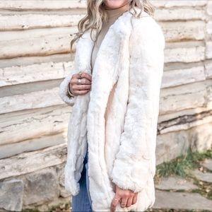 Open Front Fur Coat